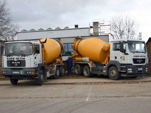 Transportbeton-Lieferung auf kommunalen Baustellen