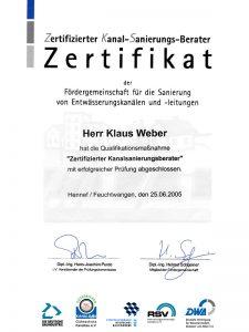 Zertifizierter Kanal-Sanierungs-Berater